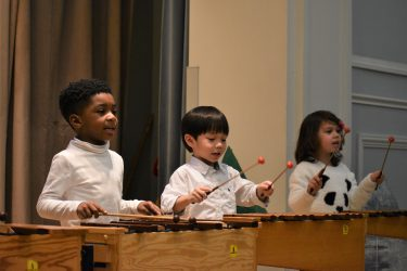 Children play xylophones. Image credit: Blanca Velazquez-Martin