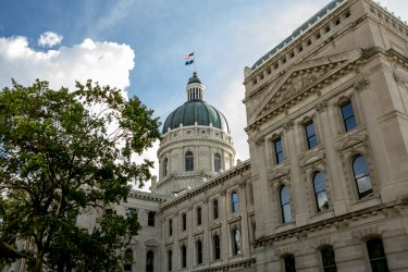 Indiana State Capitol Building on a Beautiful Day. Image credit: iStock