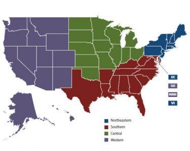 Map of NASBE regions